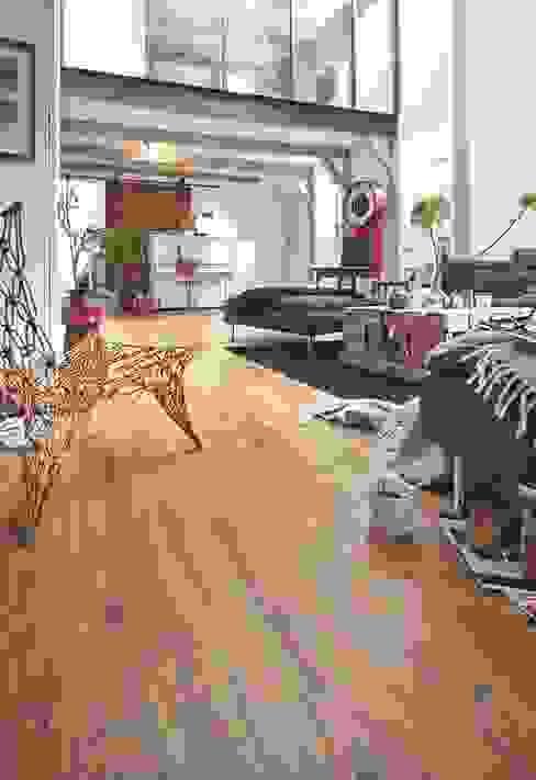 Laminat | Melango homify Ausgefallene Wohnzimmer Holz-Kunststoff-Verbund