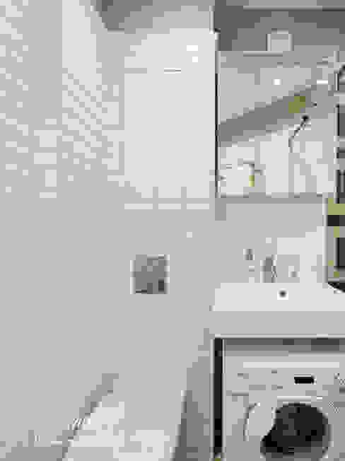 Уютный интерьер маленькой душевой Ванная комната в эклектичном стиле от Студия Инстильер | Studio Instilier Эклектичный