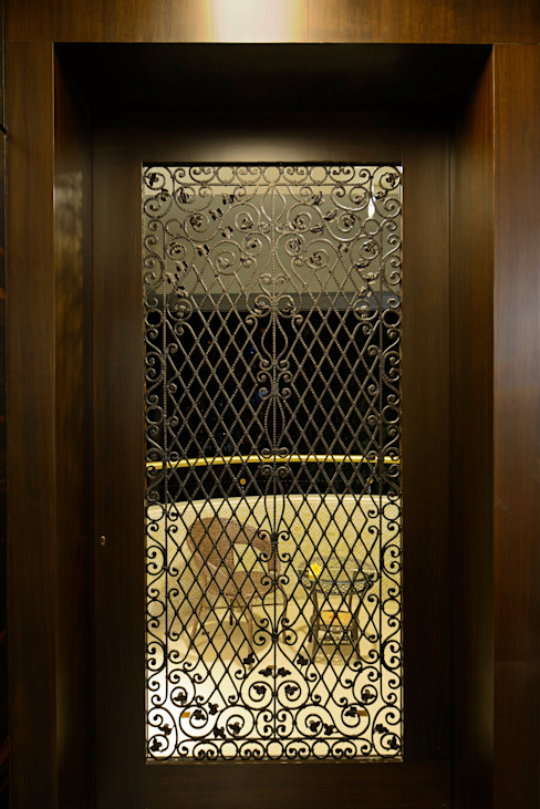 Matunga Apartment Asian style doors by Fourth Axis Designs Asian