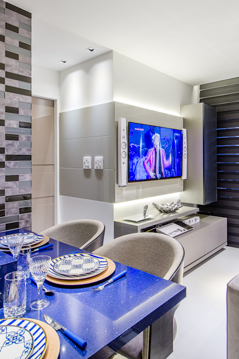 Home homify Salas de estar modernas MDF Cinza