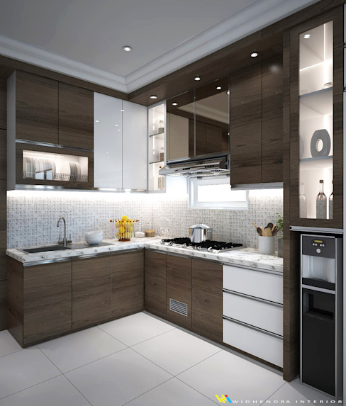 Kitchen set Widhendra interior Unit dapur Kayu Lapis Brown