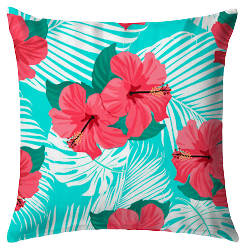 Hawaian Party :  de estilo tropical por Tres Mares , Tropical Textil Ámbar/Dorado