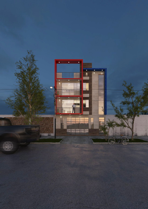 CN y Arquitectos Multi-Family house Concrete