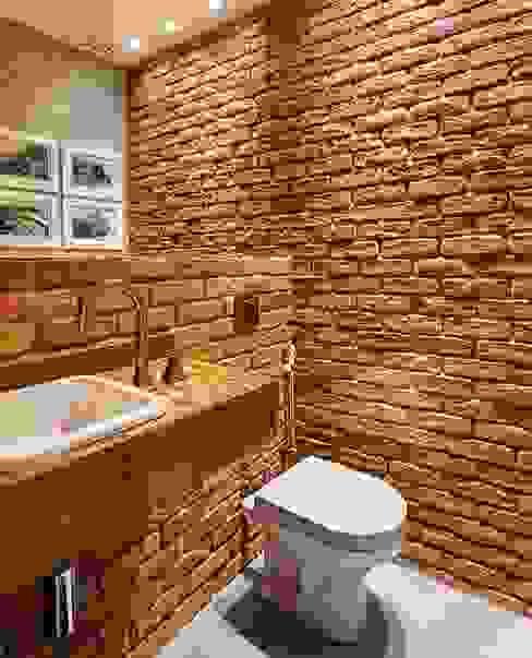 Rustic style bathroom by Guaraúna Revestimentos Rustic
