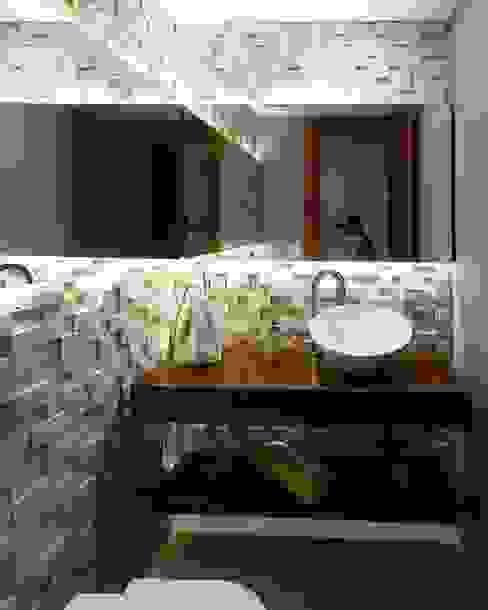 Travertine Block 20 Banheiros modernos por Guaraúna Revestimentos Moderno
