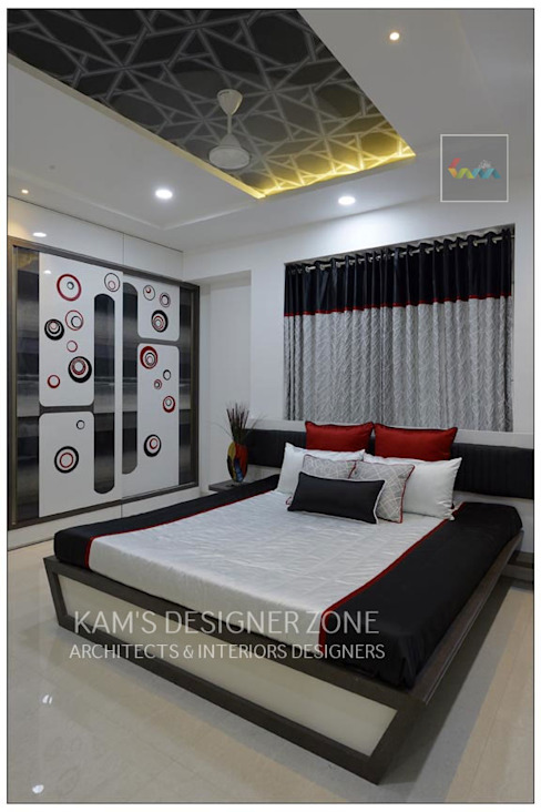 Bedroom Interior Design KAM'S DESIGNER ZONE Modern style bedroom