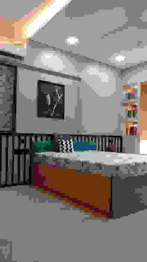 homify Scandinavian style bedroom Wood Grey