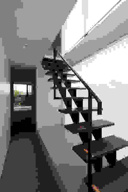 ステップハウス 寺下浩一級建築士事務所 モダンスタイルの 玄関&廊下&階段 鉄/鋼