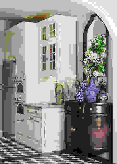 Colonial style - Tropic garden apartment Nhà bếp phong cách thực dân bởi V Design Studio Thực dân