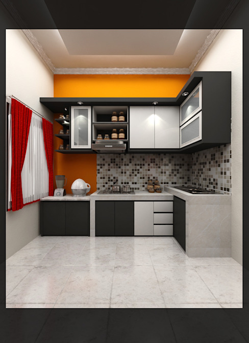 Kitchen Bpk. Indra:  Dapur by SUKAM STUDIO