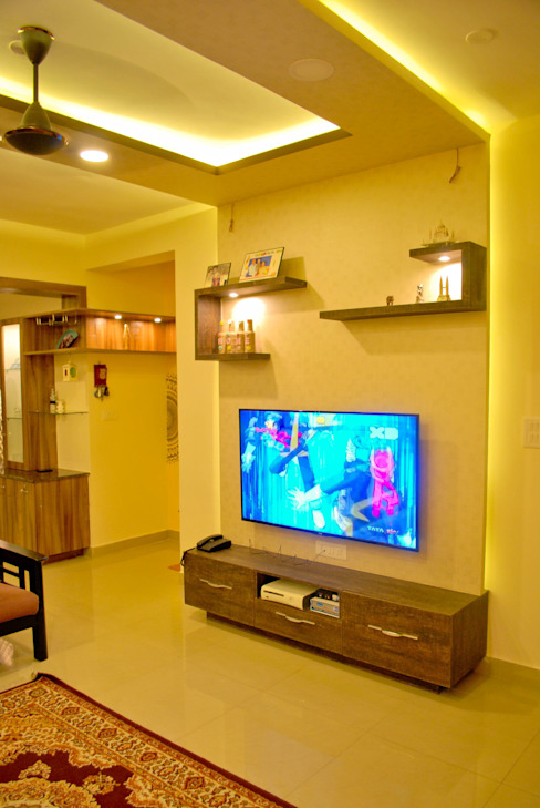 TV Unit in Living space Modern living room by Space Collage Modern