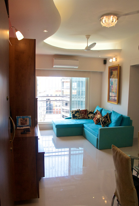 Residence at 4 Bungalows Eclectic style living room by Design Kkarma (India) Eclectic