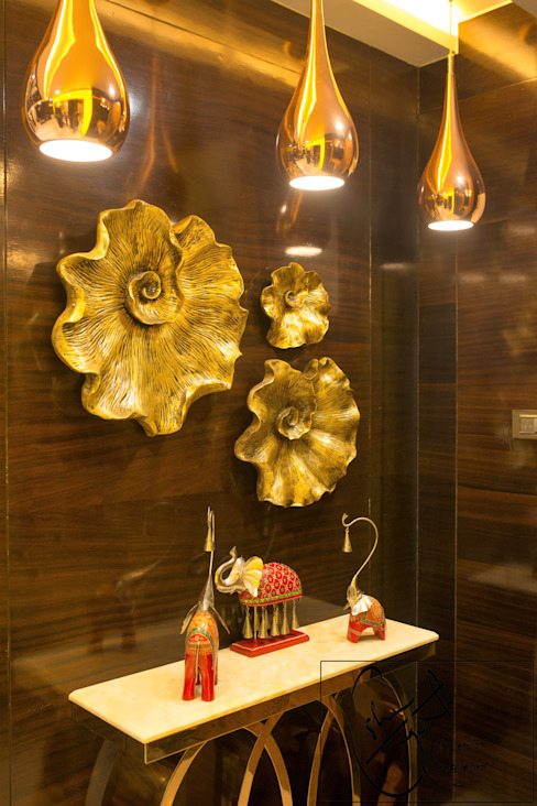 Goel's, Aanandam World City, Raipur Modern corridor, hallway & stairs by ESHA GARG : Interior Designer Modern