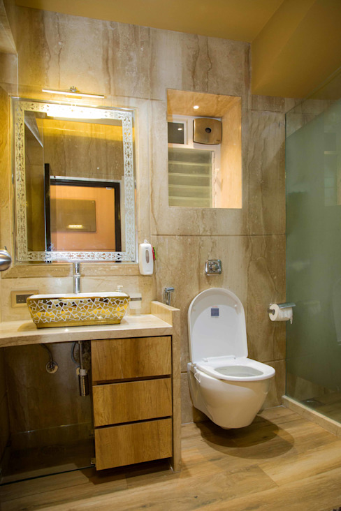 Ms. Suman, Chembur Modern bathroom by Aesthetica Modern