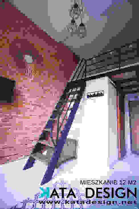 Studio4Design Salon industriel Briques Marron