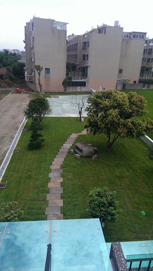 完工庭院籃球場 根據 萩野空間設計