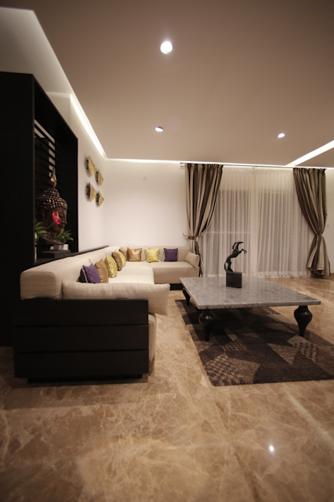 Tranquil Home Modern living room by Architecture Continuous Modern