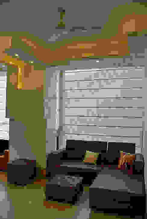 Villa Tribuz Interiors Pvt. Ltd. Eclectic style living room
