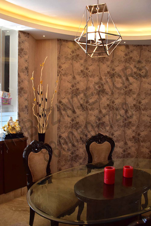 Villa Tribuz Interiors Pvt. Ltd. Eclectic style dining room