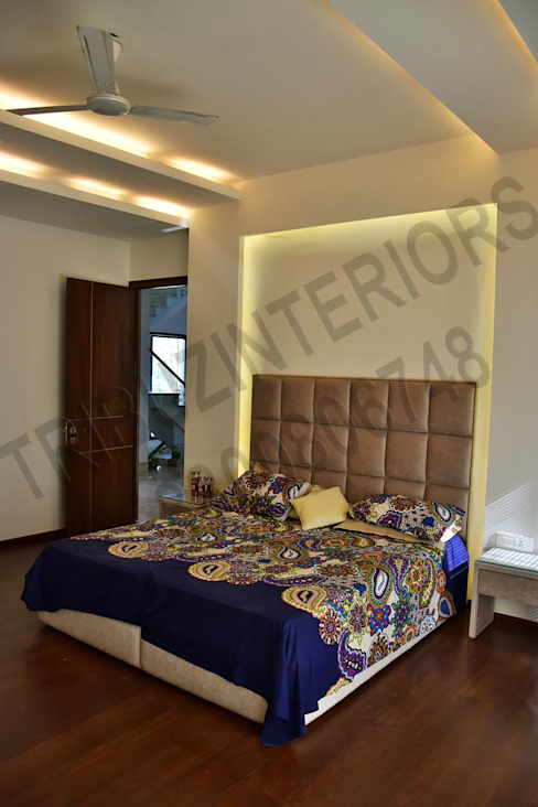 Villa Tribuz Interiors Pvt. Ltd. Eclectic style bedroom