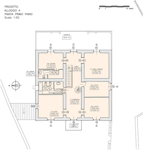 Piano primo Studio di Architettura Ortu Pillola e Associati
