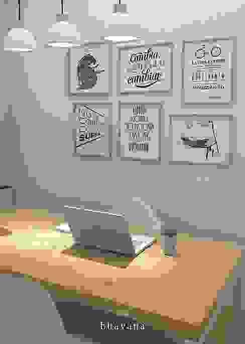 Scandinavian style study/office by Bhavana Scandinavian