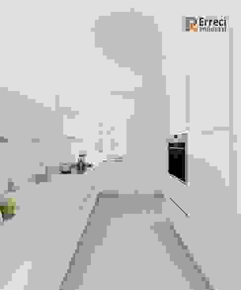 Cucina total white Erreci Progetti Cucina moderna