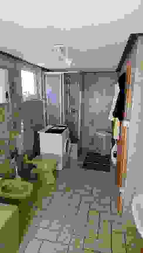 Ein Bad - zwei Welten von 1977 nach 2017 Gebr. Hupfeld GmbH Moderne Badezimmer Fliesen Grün