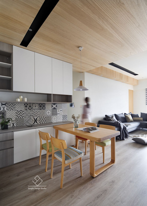 餐廳設計 根據 極簡室內設計 Simple Design Studio 北歐風 磁磚