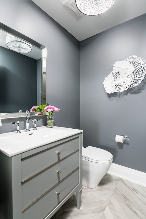 Powder Room Modern bathroom by Frahm Interiors Modern