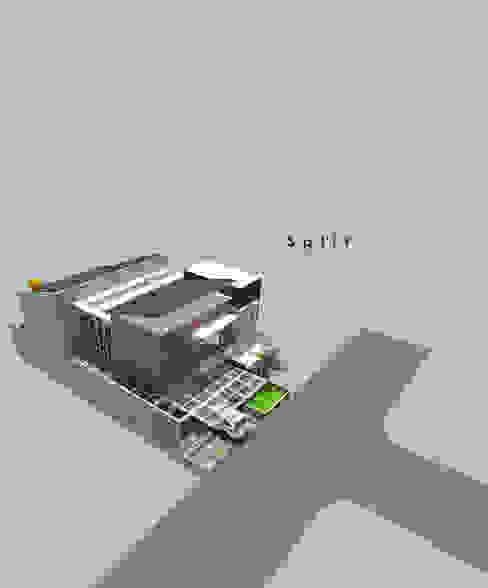 Split House Oleh CASA.ID ARCHITECTS Rustic