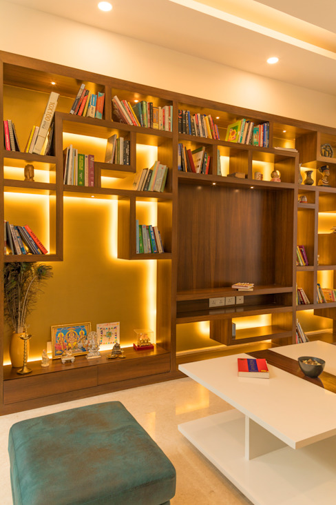Book shelve with TV unit Modern walls & floors by homify Modern