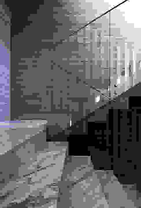 광주 서창동 1.4리터 패시브하우스 – 아들집: (주)자림이앤씨건축사사무소의  계단