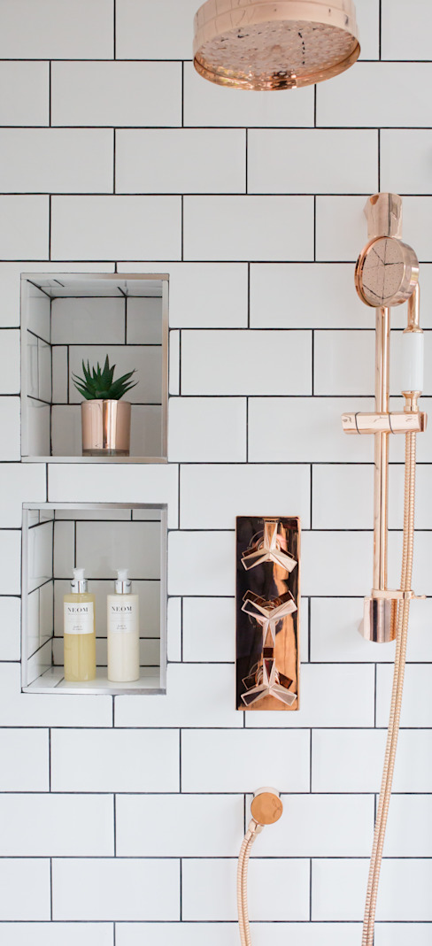 Fulthorpe Road - Main Bathroom Eclectic style bathroom by Brass & Rose Interiors Eclectic Tiles