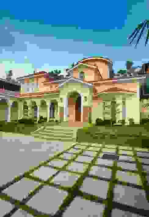 Bungalow oleh S Squared Architects Pvt Ltd., Mediteran Batu Bata