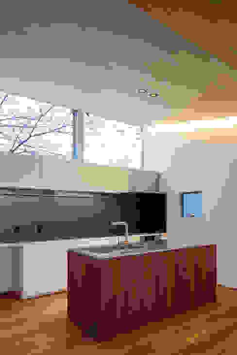 桜並木と暮らす家 ミニマルデザインの キッチン の 設計事務所アーキプレイス ミニマル