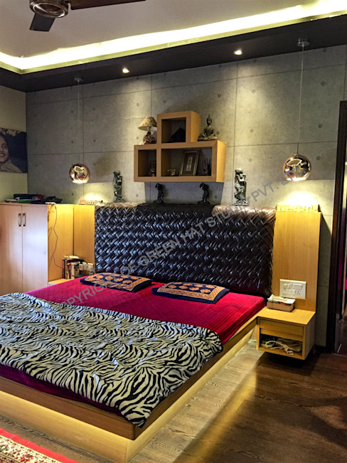Rustic style bedroom by GREEN HAT STUDIO PVT LTD Rustic