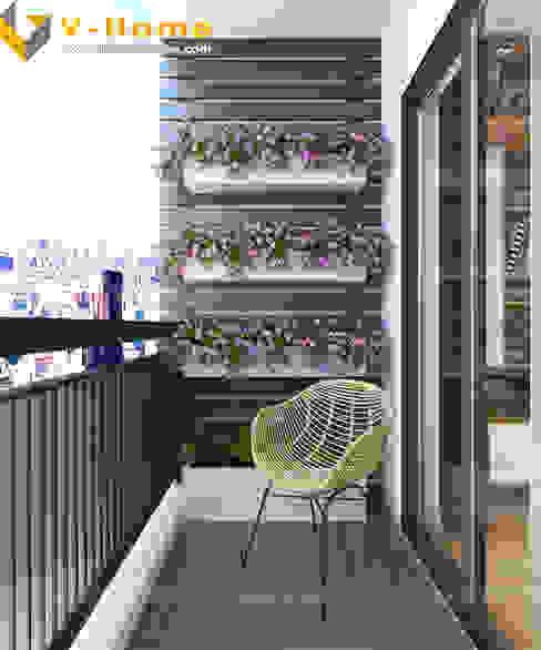 Terrazas de estilo  por Công ty CP Kiến trúc V-Home