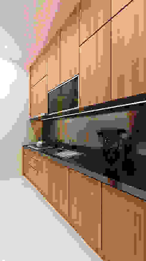Kitchen Area Oleh homify Minimalis Kayu Wood effect