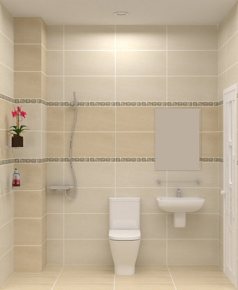 Xây nhà 2 tầng thiết kế 3 phòng ngủ rộng thoáng chỉ với 680 triệu:  Phòng tắm by Công ty TNHH Xây Dựng TM – DV Song Phát