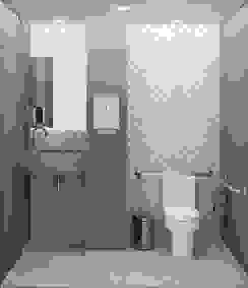 Banheiro de portadores de necessidades especiais - PNE homify Clínicas modernas