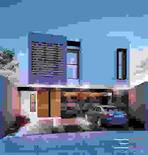 Casas de estilo  de 3C Arquitectos S.A. de C.V., Moderno