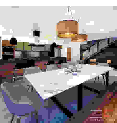 Comedores de estilo moderno de 3C Arquitectos S.A. de C.V. Moderno