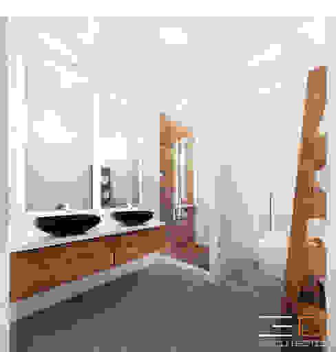 Residencia SZ [León, Gto.] Baños modernos de 3C Arquitectos S.A. de C.V. Moderno