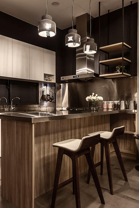Modern kitchen by 漢玥室內設計 Modern Wood-Plastic Composite