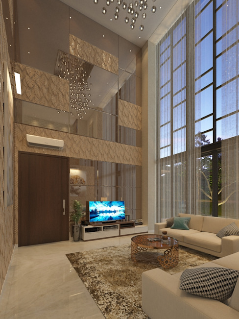 PRIVATE RESIDENTIAL @ NAVAPARK, BSD CITY, TANGERANG Ruang Keluarga Modern Oleh PT. Dekorasi Hunian Indonesia (DHI) Modern