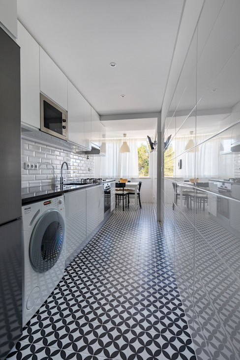 現代廚房設計點子、靈感&圖片 根據 Sizz Design 現代風