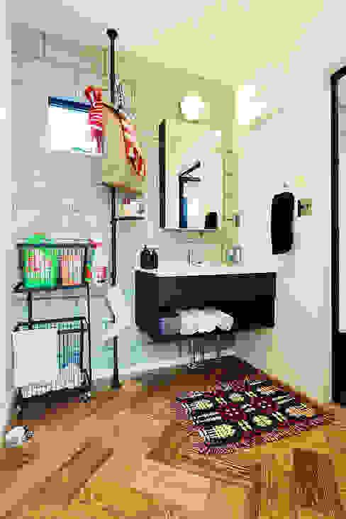 アメリカンヴィンテージの家 オレンジハウス 洗面所&風呂&トイレデコレーション
