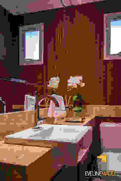 Lavabo Eveline Maciel - Arquitetura e Interiores Banheiros modernos