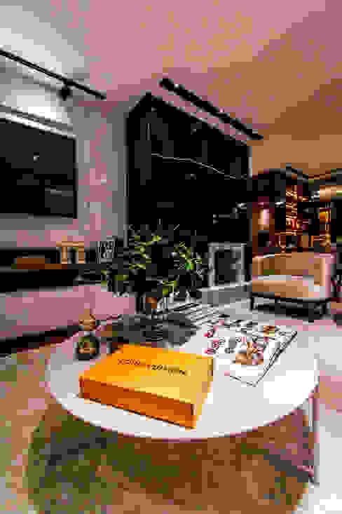 Apartamento PLB Salas de estar modernas por Saia Arquitetura Moderno